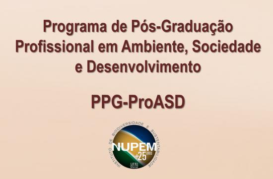 Edital de Seleção ao Curso de Mestrado Profissional  em Ambiente, Sociedade e Desenvolvimento -  Turma de 2019